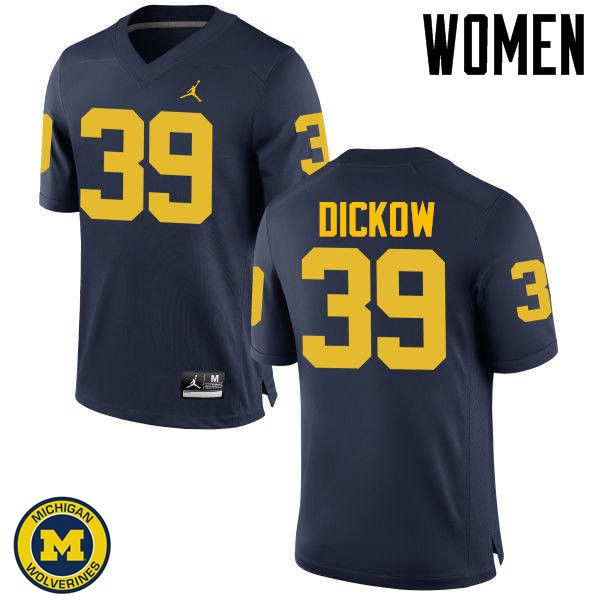 Women Michigan Wolverines #39 Spencer Dickow College Football Jerseys Sale-Navy