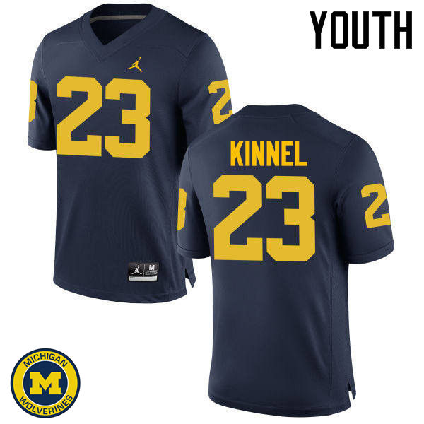 Youth Michigan Wolverines #23 Tyree Kinnel College Football Jerseys Sale-Navy
