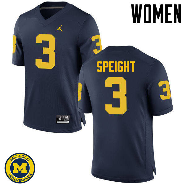 Women Michigan Wolverines #3 Wilton Speight College Football Jerseys Sale-Navy
