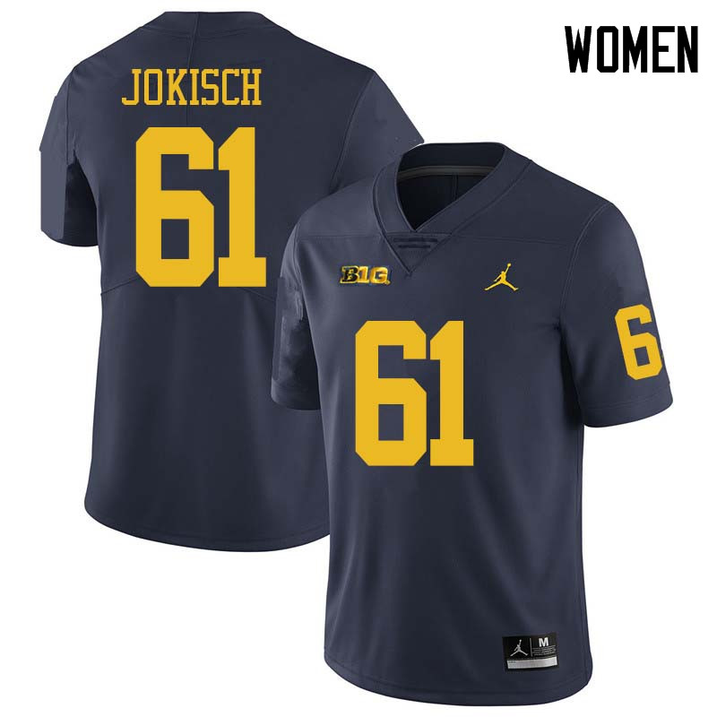 Jordan Brand Women #61 Dan Jokisch Michigan Wolverines College Football Jerseys Sale-Navy