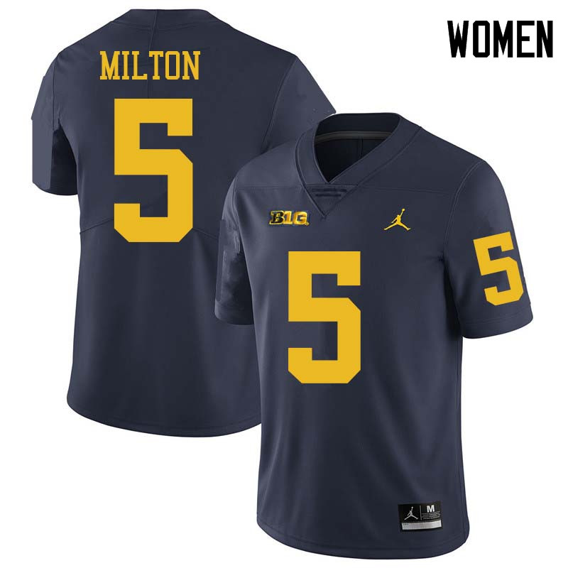 Jordan Brand Women #5 Joe Milton Michigan Wolverines College Football Jerseys Sale-Navy