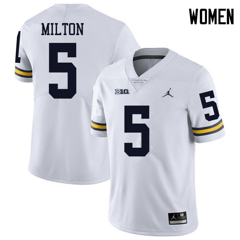 Jordan Brand Women #5 Joe Milton Michigan Wolverines College Football Jerseys Sale-White