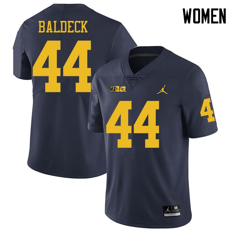 Jordan Brand Women #44 Matt Baldeck Michigan Wolverines College Football Jerseys Sale-Navy