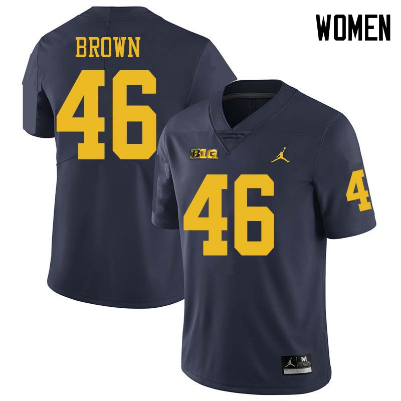 Jordan Brand Women #46 Matt Brown Michigan Wolverines College Football Jerseys Sale-Navy