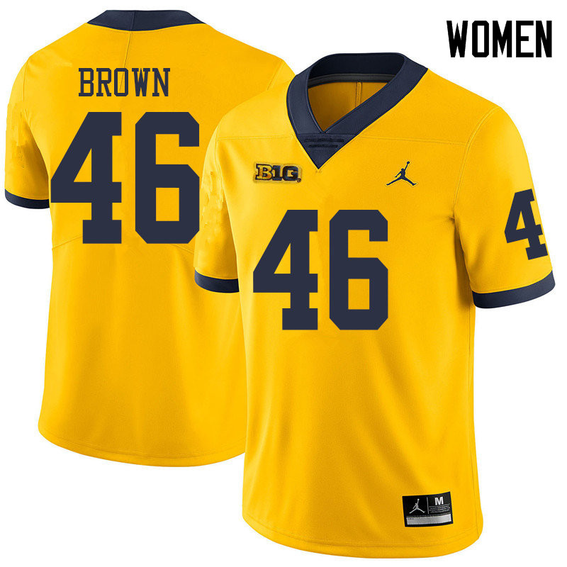 Jordan Brand Women #46 Matt Brown Michigan Wolverines College Football Jerseys Sale-Yellow