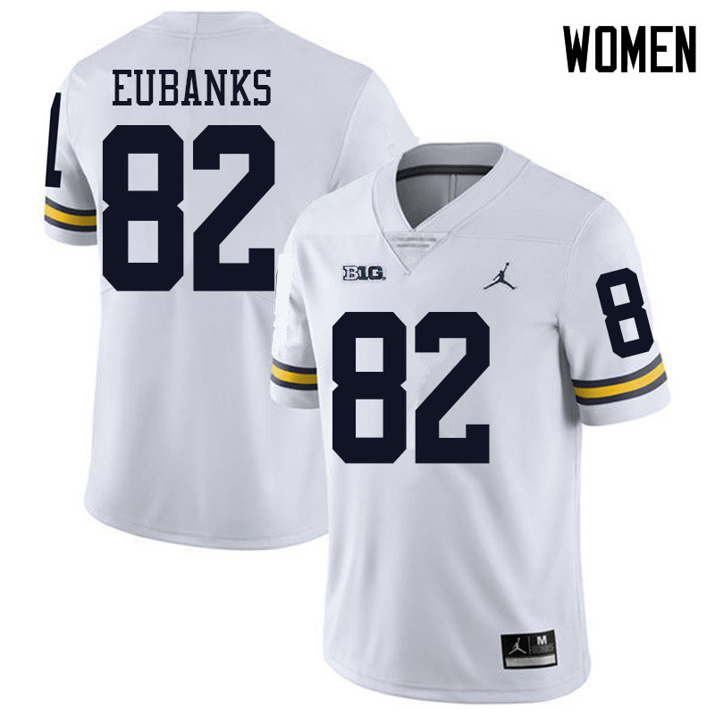 Jordan Brand Women #82 Nick Eubanks Michigan Wolverines College Football Jerseys Sale-White