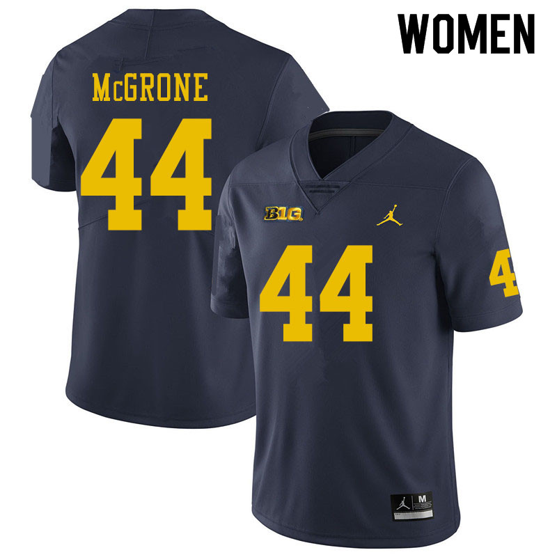 Women #44 Cameron McGrone Michigan Wolverines College Football Jerseys Sale-Navy