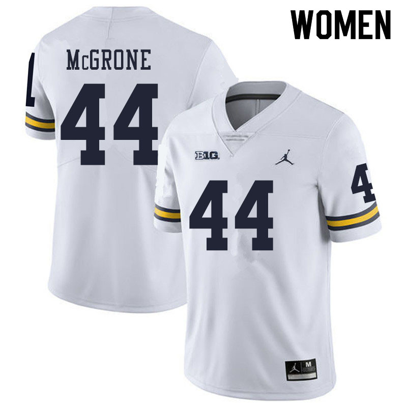 Women #44 Cameron McGrone Michigan Wolverines College Football Jerseys Sale-White