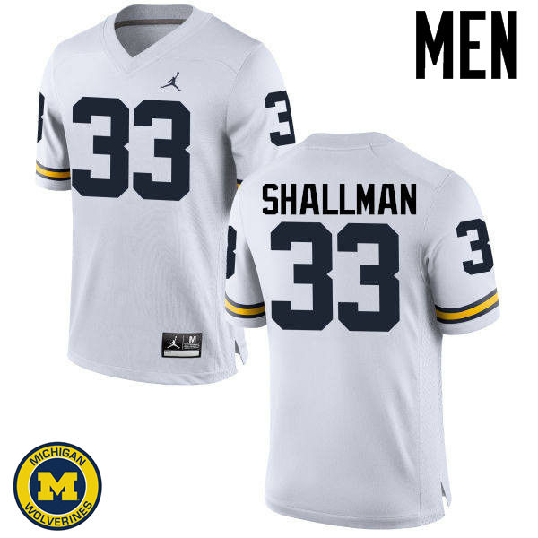 Men Michigan Wolverines #33 Wyatt Shallman College Football Jerseys Sale-White