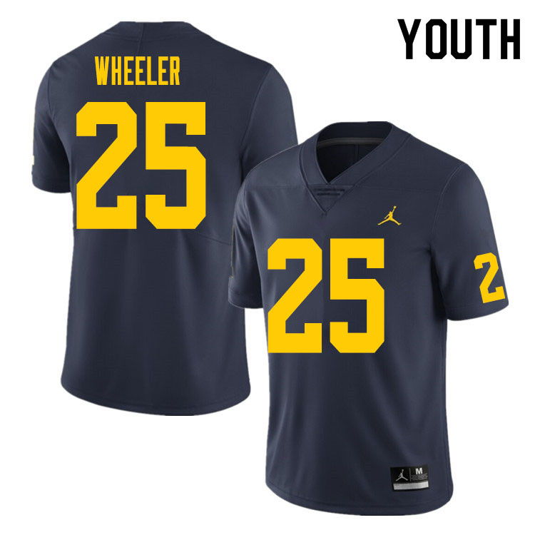 Youth #25 Cornell Wheeler Michigan Wolverines College Football Jersey Sale-Navy