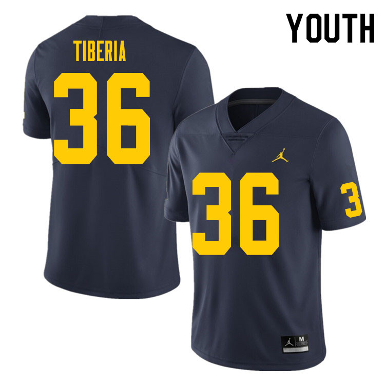 Youth #36 Nico Tiberia Michigan Wolverines College Football Jersey Sale-Navy