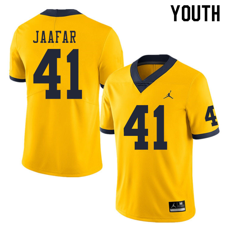 Youth #41 Abe Jaafar Michigan Wolverines College Football Jerseys Sale-Yellow
