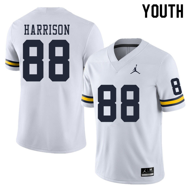 Youth #88 Mathew Harrison Michigan Wolverines College Football Jerseys Sale-White