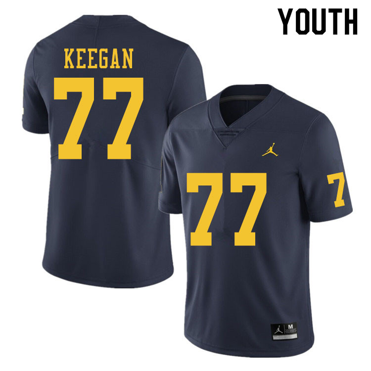 Youth #77 Trevor Keegan Michigan Wolverines College Football Jerseys Sale-Navy